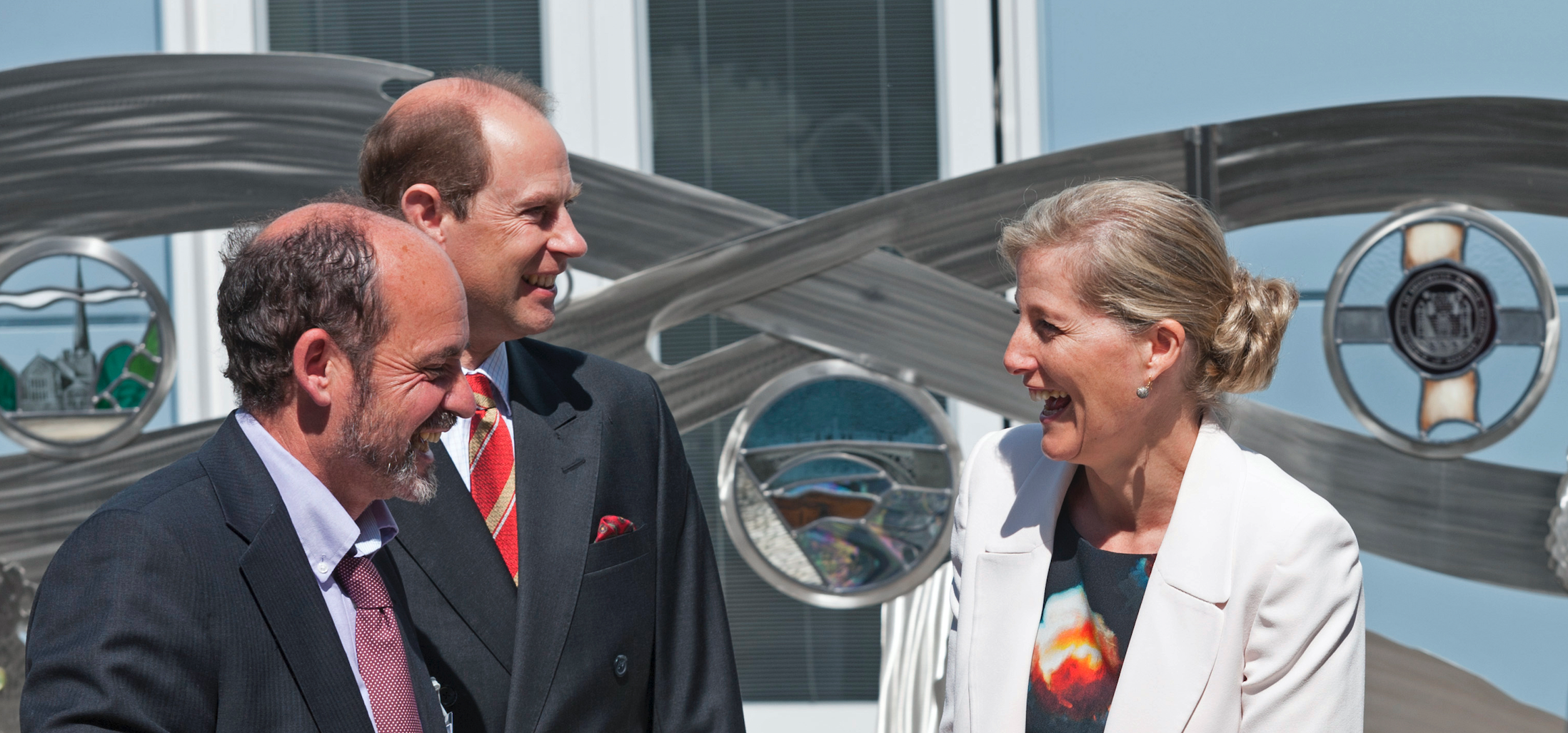 ian Marlow at Royal opening with Earl and Countess of Wesex